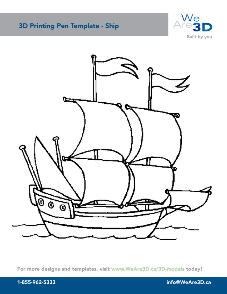 3D-pen-template-Ship