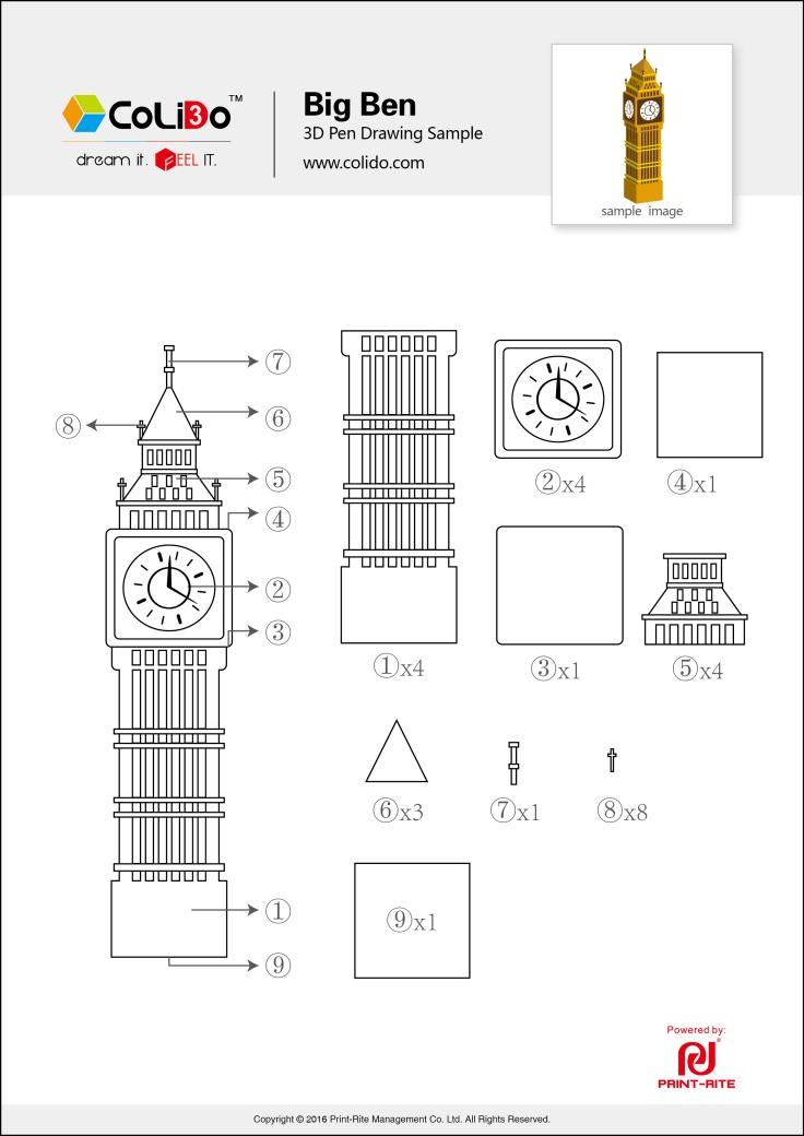 CoLiDo-3d-pen-stencil-big-ben