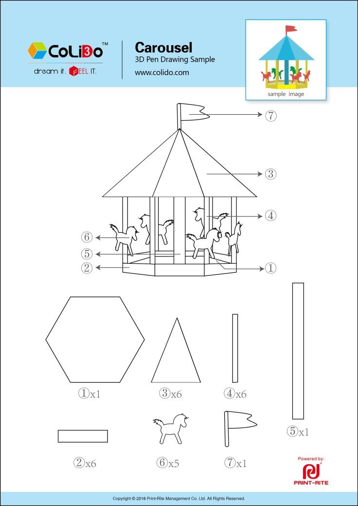 CoLiDo-3d-pen-stencil-carousel
