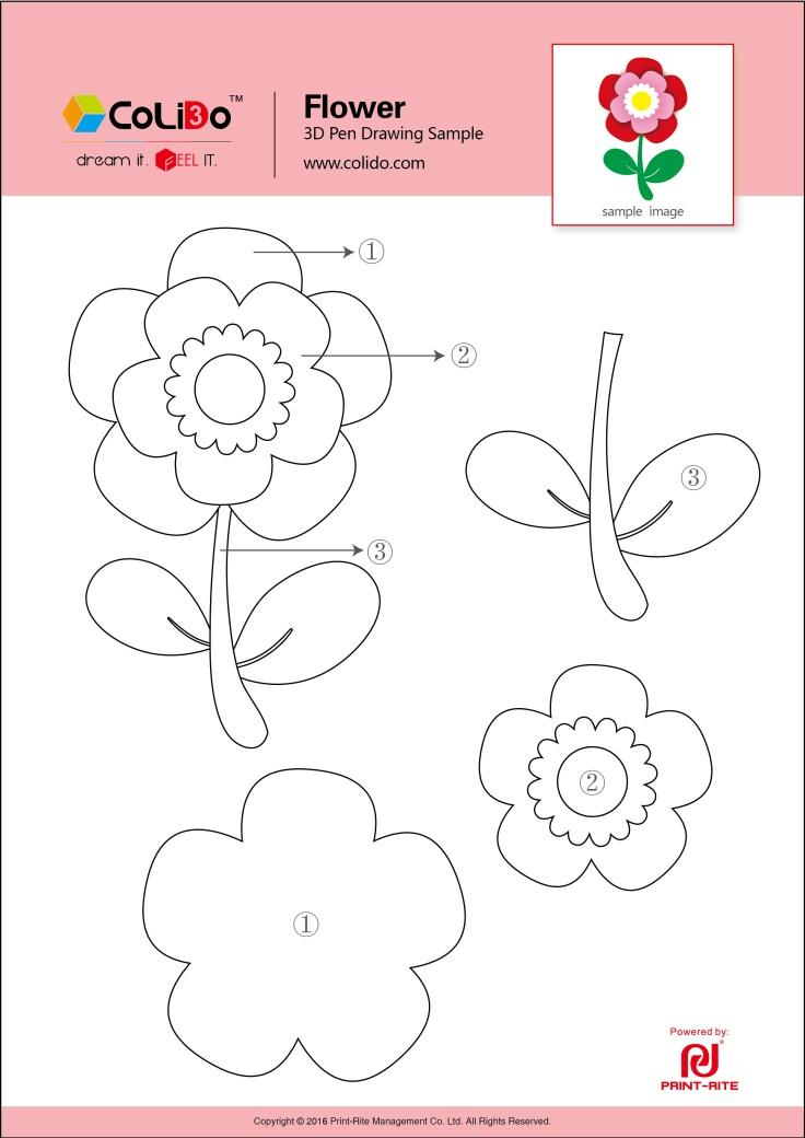 CoLiDo-3d-pen-stencil-flower-2
