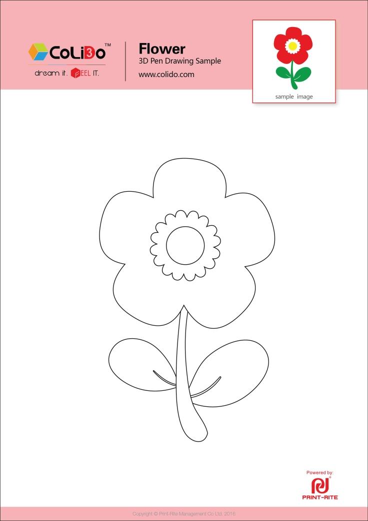 CoLiDo-3d-pen-stencil-flower