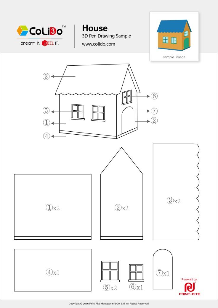 CoLiDo-3d-pen-stencil-house