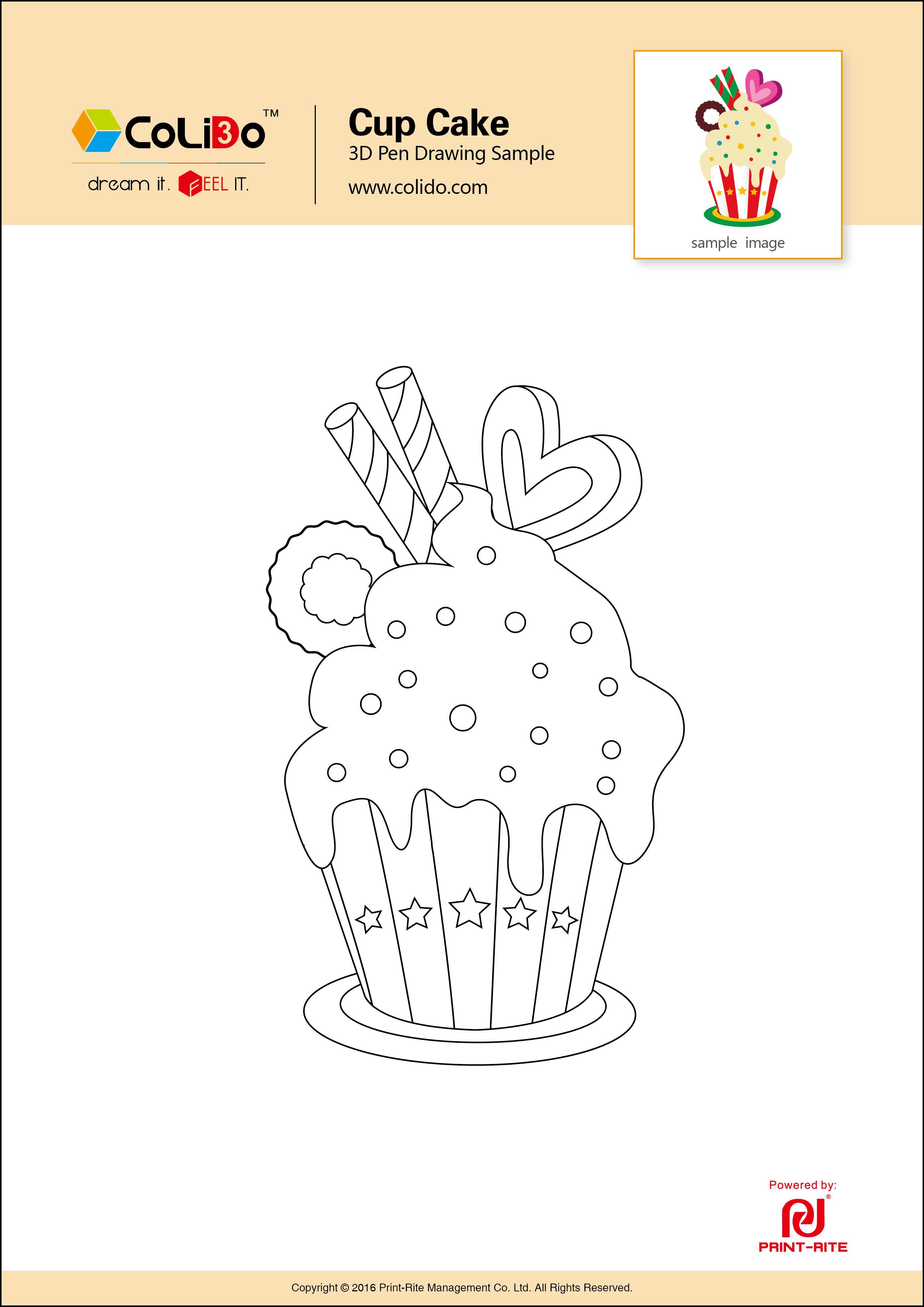 Cup Cake 2D   3d pen - 3D Pen Inspiratie?